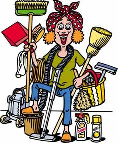 Image result for house cleaner clipart