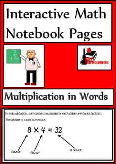 Newly released interactive math lesson on using words when describing multiplication problems. Includes a reference sheet and a reflection sheet for just $1.