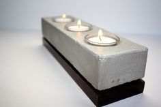 concrete candle holder_studio1015, etsy #cementoimpreso