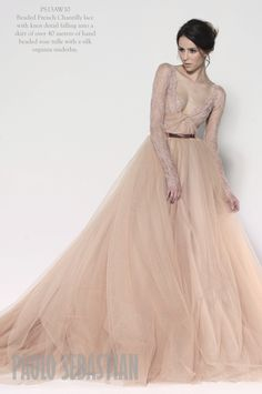 Qué os parece este precioso vestido de #novia de Paolo Sebastian Couture? / What do you think of this #wedding dress?