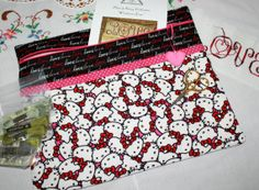 Hello Kitty Love Cross Stitch Sewing Embroidery by sewmuch2luv, $25.00