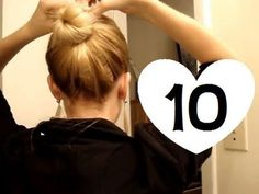 10 easy styles for medium to long hair. I wish shed included what product she used, because my hair doesnt have enough texture to hold any of those hairstyles, especially with only one or two bobby...