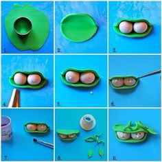 How to make 2 peas in a pod in gumpaste