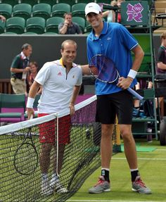 2011 Newport (UK) Oliver #Rochus (Bel)  with John #Isner (USA) Is the height important in modern #Tennis ?