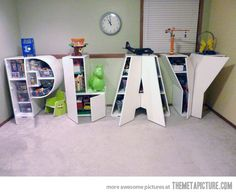 Awesome toy storage!  Love this so much!  Would be especially awesome if it spelled out B's name...