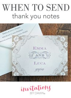 Etiquette For Sending Wedding Gift Thank You Notes : about Wedding Help & Tips on Pinterest Wedding invitations, Wedding ...