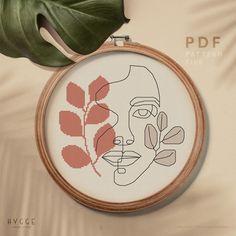 Easy Cross Stitch Patterns, Simple Cross Stitch, Cross Stitch Kits, Cross Stitch Designs, Floral Embroidery Patterns, Diy Embroidery, Cactus Embroidery, Mid Century Art, Diy Ribbon