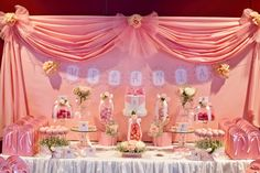 Little Big Company | The Blog: Bows and Pink Roses Themed Table for Milanis 1st birthday and Christening by Little Wish Cakes