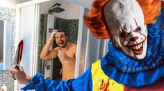 """IT"" PAYASO BROMA MUY PESADA EN LA DUCHA !! (TERMINA MAL) Carnival, Halloween Face Makeup, Youtube, Movies, It The Clown, Pranks, Rain Shower Heads, Clowns, Weights"