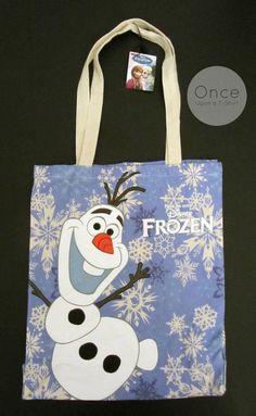 DISNEY FROZEN Olaf the Snowman Canvas Tote