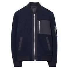 GANT Rugger: Blue Wooly Bomber Jacket Men's | GANT USA Store