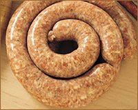 Mystery Lovers' Kitchen: Fresh Polish Sausage and Sauerkraut