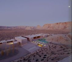Aerial view of  Amangiri Resort and Spa in Utah!