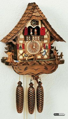 Cuckoo Clock 8-day-movement Chalet-Style 44cm by Anton Schneider - 8TMT2683/9