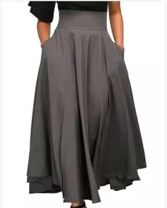 Women Elegant High Waist Pleated Back Zip Straps Skirts Plus Size Dresses, Dresses For Sale, Vintage Jumpsuit, Boho Fashion, Fashion Outfits, Plus Size Jumpsuit, Loungewear Set, Vintage Skirt, Pattern Fashion