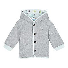 Baker by Ted Baker - Babies grey quilted ear hooded jacket