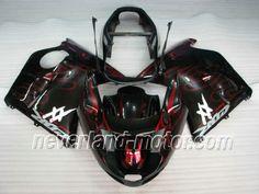 Carenado de ABS de Honda CBR-1100XX BLACKBIRD 1996-2007 - Fuego Rojo