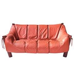 Percival Lafer MP-211 Brazilian Rosewood and Leather Two-Seat Sofa, 1970s