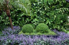 O estilo clássico francês, com suas típicas topiarias e simetrias, inspira o generoso jardim desta residência em um condomínio próximo a São Paulo. Projeto Luciana Moraes.