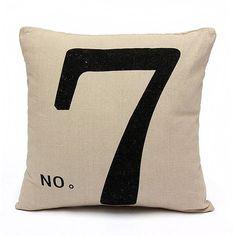 Fashion Four Creative Design Cotton Linen Pillow Case Home Sofa Office Cushion Cover