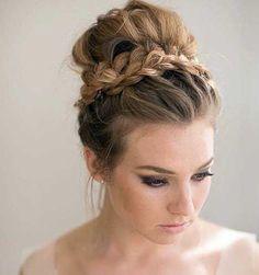 Hair bridesmaid bun up dos ideas Braided Bun Hairstyles, Party Hairstyles, Trendy Hairstyles, Wedding Hairstyles, Hairstyles 2018, Curly Haircuts, Hairstyle Ideas, Amazing Hairstyles, Fashion Hairstyles