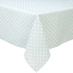Duck Egg and White Wipe Clean Tablecloth