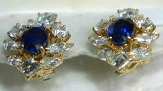 Cartier Paris Sapphire & Diamond Earrings  $75,000 Retail  –  $100,000 Retail