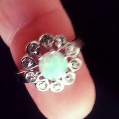 Gorgeous sterling silver white opal ring size6 Gorgeous sterling silver white opal ring Jewelry Rings