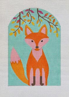 It's not your Grandmother's Needlepoint: Foxes are the new Owl