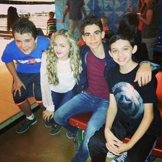 """Photo: """"Gamer's Guide To Pretty Much Everything"""" Cast Had Fun Bowling April 4, 2015 - Dis411"""