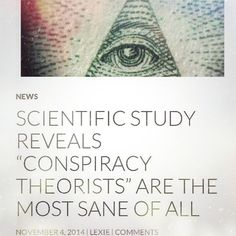 By: @_libertas_  FOLLOW I was so #happy to finally see a study done on the psychology of #conspiracy beliefs.  It goes through the importance of belief systems in the acceptance or rejection of 'conspiracy theories.' If you consider yourself #awakened and seeking the #truth – especially in #government matters, #people are quick to label you a crazy conspiracy theorist just so they can validate themselves. In this study, a large group of commenters were examined on a news website, surrounding the News Website, Conspiracy Theories, Boho Gypsy, Follow Me, Acceptance, Psychology, Label, Study, Group