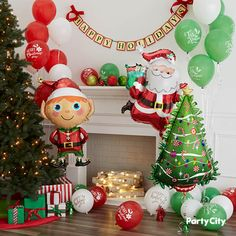 Inflate your home with holiday cheer using fun, festive Christmas themed balloons! Christmas Balloons, Christmas Themes, Merry Christmas, Christmas Decorations, Christmas Ornaments, Holiday Decor, Holiday Parties, Hanukkah, A Table