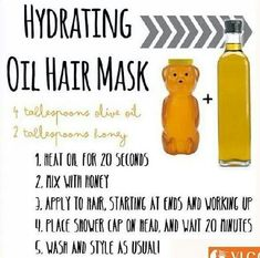 hair masks (images and videos)! Olive oil and honey mask.I love this as a prepooOlive oil and honey mask.I love this as a prepoo Coconut Oil Hair Treatment, Coconut Oil Hair Growth, Coconut Oil Hair Mask, Hydrating Hair Mask, Natural Gel Nails, Natural Lips, Hydrate Hair, Diy Hairstyles, African Hairstyles