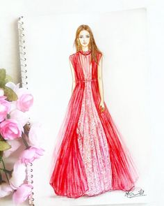 6,975 Followers, 132 Following, 240 Posts - See Instagram photos and videos from Dipti Patel (@dipti.illustration) Wedding Dress Sketches, Dress Design Sketches, Fashion Design Sketchbook, Fashion Design Drawings, Fashion Sketches, Fashion Drawing Dresses, Fashion Illustration Dresses, Fashion Dresses, Fashion Art