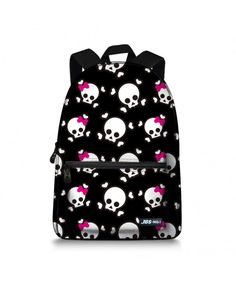 922c36e99145 Canvas Backpack for Teen Boys Girls Cute Lightweight Pig School Bags (Black  Skull) - C6184C5CDE8