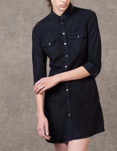 At Stradivarius you'll find 1 Denim dress with button detail for woman for just 229.9 HRK . Visit now to discover this and more DRESSES.