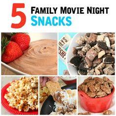 5 Family Movie Night Snacks