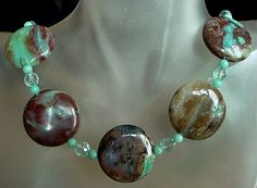 Peruvian Natural Opal Necklace c/w Round Adventure and by camexinc, $38.00