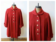 1940s Coat // vintage 40s // Lawson Swing Coat by dethrosevintage, $245.00