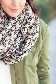 love the color of the scarf and the shirt too.