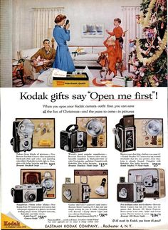 Film Photography Project, Photography Camera, Vintage Photography, Vintage Cameras, Vintage Ads, Instax Wide Film, Brownie Hawkeye Camera, Christmas Ad, Vintage Christmas