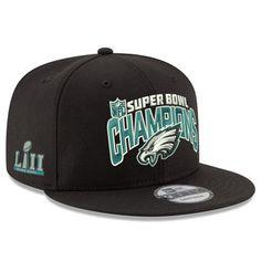 Men s Philadelphia Eagles New Era Black Super Bowl LII Champions 9FIFTY  Adjustable Hat Super Bowl Gear 19cfccd16e8