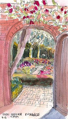 Filoli Garden Door by Jana Bouc, via Flickr