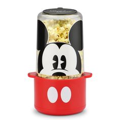 Kick back with a classic Mickey Mouse cartoon and a popcorn snack for a memorable home matinee. Mickey& stir popper makes popcorn just the way you like it, nice and easy! Disney Mickey Mouse, Classic Mickey Mouse, Mickey Mouse Cartoon, Mickey Y Minnie, Minnie Mouse, Mickey Ears, Walmart, 1 Cup Coffee Maker, Casa Disney