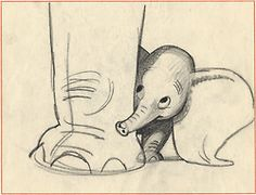 Bill Peet - Dumbo storyboard