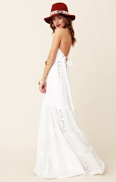 I need a long white summer dress:  Michelle Jonas Gauze Chelsea Dress by Planet Blue