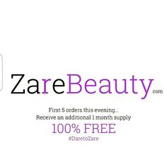 #Competition time. Order quick to #win a free month Supply!! www.ZareBeauty.com #DaretoZare  #skin #skincare #skincareproducts #supplement #diet #nutrition #vitamins #beauty #healthy