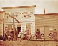 OLD WEST GUN HARDWARE STORE DODGE CITY PHOTO 1880