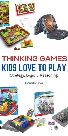 If you're considering adding to your game collection, here are our favorite educational games for kids that require logic and strategy. Logic Games For Kids, Learning Games For Kids, Educational Games For Kids, Some Games, Games To Play, Activities For Kids, Writing Lesson Plans, Writing Lessons, Writing Ideas
