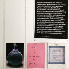 Wise words in the studio corner. - #artpractice #studiopractice #quote #louisebourgeois #gfda  #sustenance Lite Brite, Louise Bourgeois, Get Over It, Believe In You, Wise Words, The Outsiders, Corner, Quote, Studio